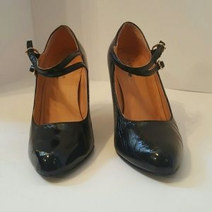 Glaze high heels black patent leather sz 8.5